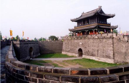 宜昌古城图 手绘